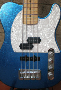 Big Blue Sparkle Bass 5-String