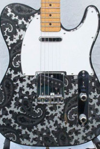 Black and Silver Sparkle Paisley