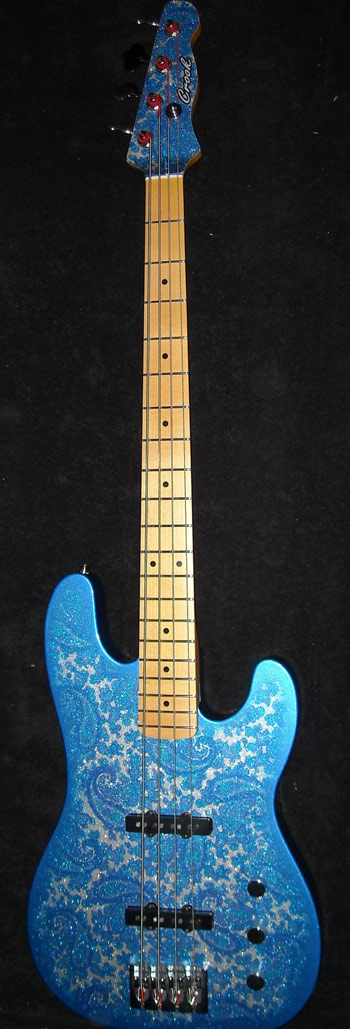Blue Sparkle Paisley T-Bass 4-String