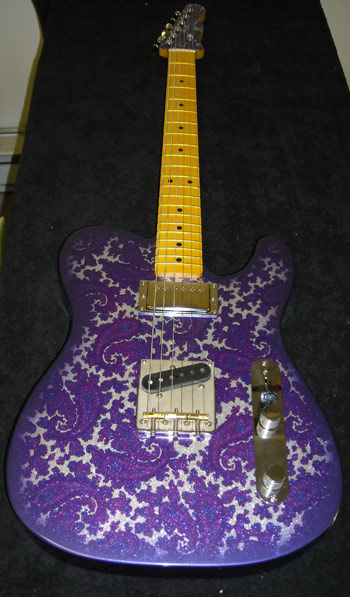 Purple and Silver Sparkle Paisley