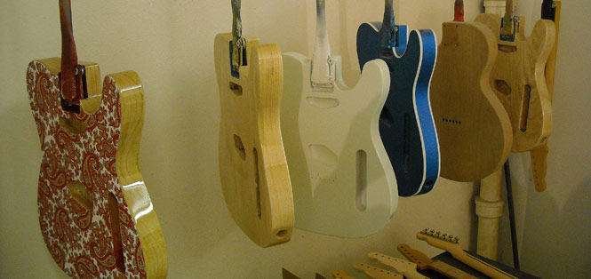 Painted Guitars at Crook Custom Guitars