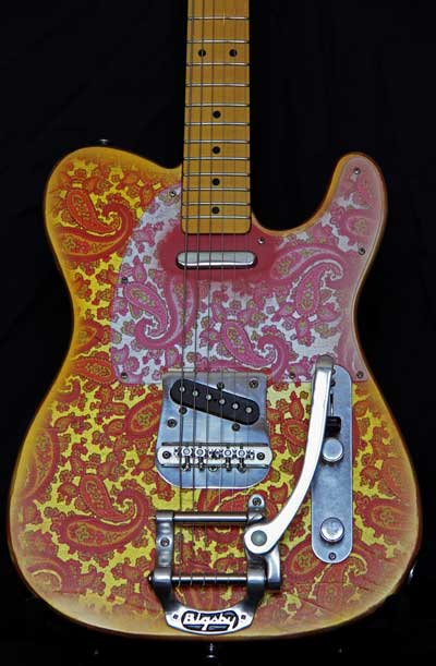 Pink Paisley T-Style Guitar with Bigsby for Sale Body