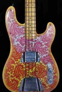 Pink Paisley T-Style Bass Crook Body
