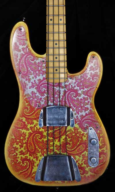 Pink Paisley T Style Bass For Sale Body