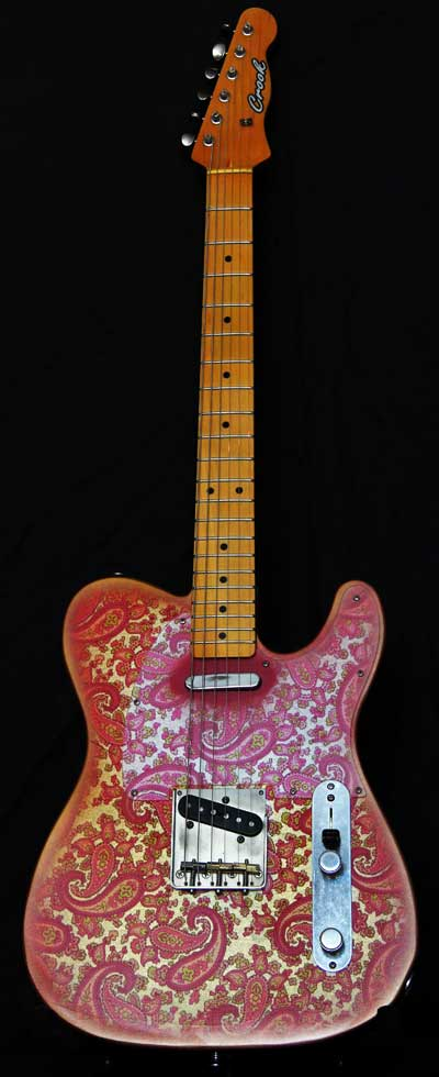 Pink Paisley T-Style Guitar