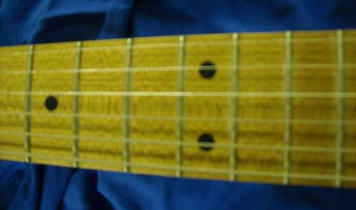 Baked Maple Roasted Maple Fretboard