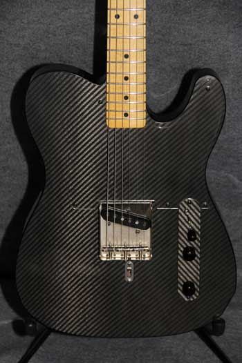 Carbon Fiber Guitar Body Front