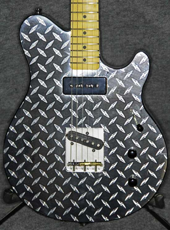 Diamond Plate Finish Crook Custom Guitars