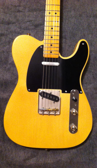 Butterscotch Blackguard T-Style Crook Guitars for Sale