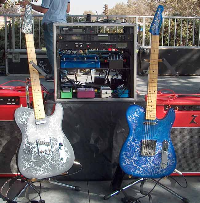 Brad Paisley Crook Guitars Gear Blue and Charcoal