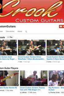 Crook Custom Guitars Videos Demo YouTube Channel