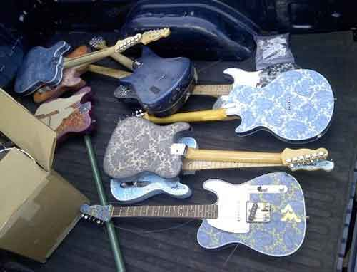 Nashville Flood Guitars Destroyed Brad Paisley Crook Guitars