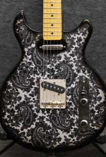 Black White Paisley Double Lesquire Crook Custom Guitars