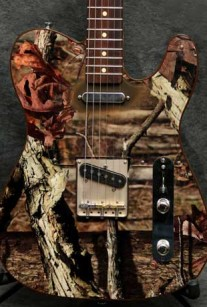 Camo Picture Guitar Crook Custom Guitars