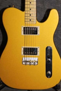 Gold T-Style with Humbuckers Guitar Crook Custom Guitars