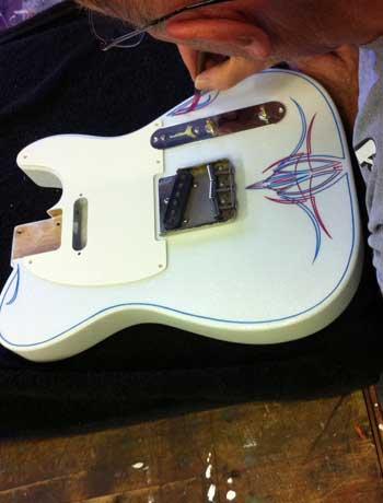 Crook Guitars Mike Kyrc Pinstripte Guitar