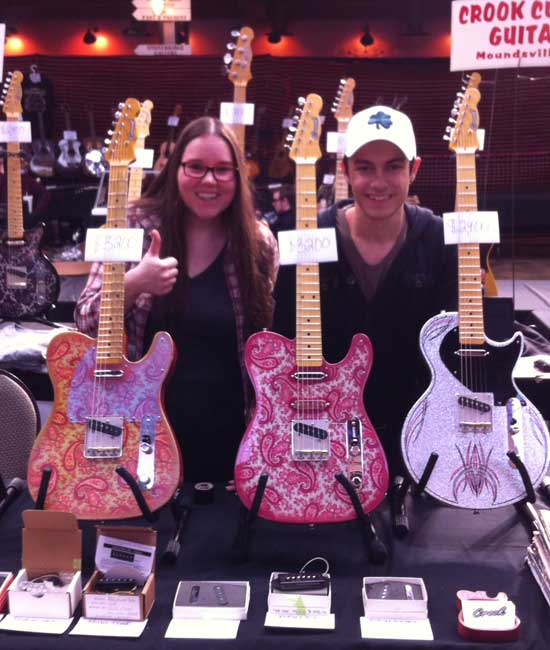 Crook Guitars Nashville Guitar Show 2015