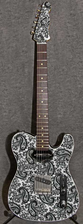 Black and White Pearl Paisley Crook Custom Guitars
