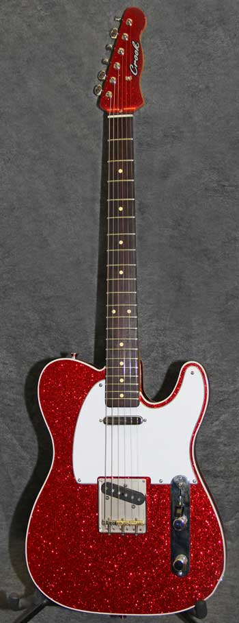 Red Metalflake T Style Crook Custom Guitars