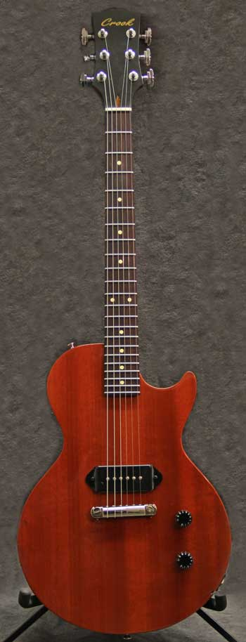 TG Single Cut Cherry Red Crook Custom Guitars